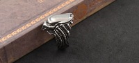 Min Order $15 (can mix order) Free Shipping Alloy Punk Gothic Men's Animal Prey Ring