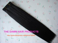 "Mixed (50% Human Hair&50% Kanekalon Futura Heat Resistant Fiber) Straight New Yaky Weave Extension Color 1B# Length 8""-22"""