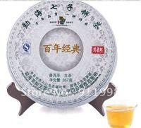 3cake/ lot  2009 Years Nonpareil Organic Raw Pu'er tea  yunnan Brand Cha Shu King Puer tea Office tea 357g /cake Free Ship