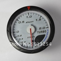 Free shipping 2012 Defi 60mm CR gauge advanced turbo boost gauge with black and white face