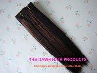 "2 Pieces/Lot Mixed (50% Human Hair&50% Heat Resistant Fiber) Straight New Yaki Hair Weave Weft Color PFR1B/33# Length 10""-22"""