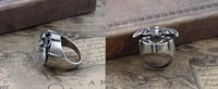Min Order $15 (can mix order) Free Shipping Alloy Punk Gothic Men's Bat Ring