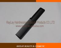 Professional black plastic hair salon flat top cutting comb