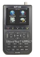 DHL Free shipping  WS-6908 3.5 linch LCD DVB-S LNB input FTA digital satellite finderdvb-s satellite finder meter