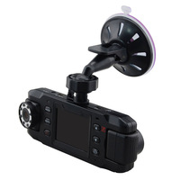 GPS Dual Lens Car DVR Camera Night Vision 140 Degree Wide-Angle Lens GPS G-Sensor 1280*480 Vehicle Black Box X8000C