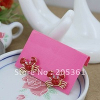 Cute Red Crabs Earrings Hot Fahion Jewelry for Girls Ladies Beauty