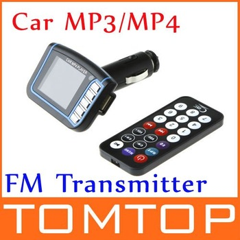 [Unbeatable At $X.99] 12V 4 Inch LCD Display Car Mp3 MP4 FM Transmitter SD MMC USB with Remote Control Audio FM Receiver