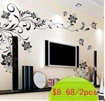 House decorative 3D flower  wall sticker TV Background Wallart  wall paster house sticker  drop shipping HD039LQ
