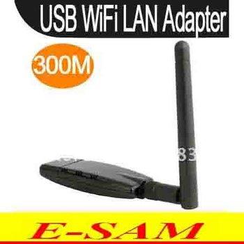 USB Mini Wireless Network LAN Adapter 300Mbps 300M Card WIFI 802.11n/g/b Antenna