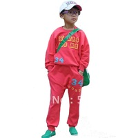 Boys Girls Red Casual Sports Suits, Kids Twinset Sweatshirt + Harem Pants Spring Autumn Children's Clothing Sets, Christmas Sale