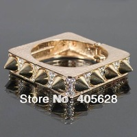 Crystal square Spike bangle, various colors