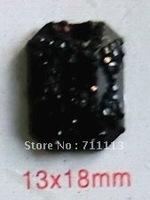 Free shipping Resin diamond Black resin stone13*18mm octagonal Stone 2 hole DIy Popular cloths apparel accessories 150pcs/lot