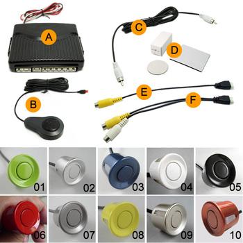 Car 6 Sensors Dual view Video Parking Sensor System Backup Radar  #2656