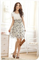Women BOHO Exotic Summer Floral Printed Chiffon Mini Dress