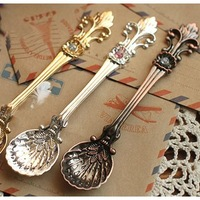 fashion royal wind vintage gold and silver coffee spoon flavorfully ice cream small spoon