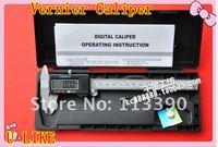 """Free shipping 5PCS 6"""" 150 mm metal Digital vernier Caliper gauge micrometer"""