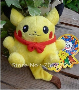 Lot /6pcs New 2008 POKEMON 10TH Anniversary #025 Pikachu Plush Doll Toy Figure Collectible