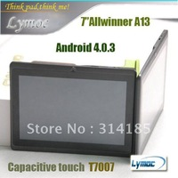 Freeshipping Ultra-thin Q8 tablet pc 7 inch cheaper Allwinner A13 android 4.0 1.2GHZ 512RAM/4GB 3pcs/lot