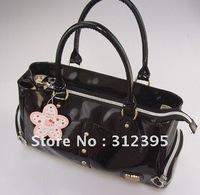 2pcs Wholesale Girl's Soft PU leather Black hello kitty Handbag bags size 38.5cm*21cm*12.5cm
