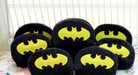 6PCS Half-Round Batman Plush Coin Purse & Wallet BAG Pouch CASE Pendant Chain Storage BAG Pouch Case Handbag Pack