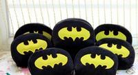 6PCS Half-Round Batman Plush Coin Purse & Wallet BAG Pouch CASE Pendant Chain Storage BAG Pouch Case Handbag Pack