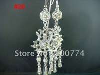 fashionable styles metal with beads earrings drop wholesale