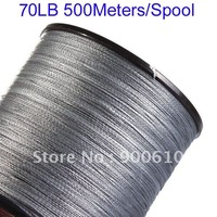 Super Strong 100% UHMWPE Fishing Line 4-Braid 70LB 500Meters/Reel Free Shipping