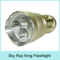 Super Bright Skyray King 5000 Lumen 3x CREE XM-L 3x T6 LED Flashlight Lamp Light High Power Torch Waterproof For Camp Hiking