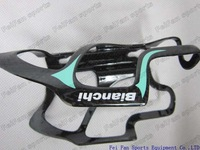 Road Bike Black-Green Bianchi full carbon fiber bottle cage/bottle cage kit with packing box,free shipping
