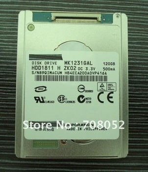 """1.8""""  120GB IDE Hard drive disk for laptop ect MK1231GAL HDD for notebook Camera  For ipod video For Macbook Air 1st"""