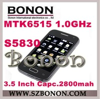New!! S5830 Smart Phone Android 2.3 MTK6515 1.0GHz WiFi 3.5 Inch Multi-touch Screen CPAM shipping free