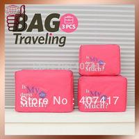 Free shipping 2014 new arrival  fashion nylon organizer bag travel bag organizer for storage (3pcs/set)