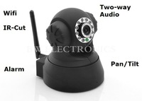 Two Way Audio PTZ IP Camera  Pan/Tilt Cam With IR-Cut Filter Support Night Vision, Free Shipping