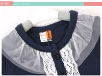 2014 Spring And Autumn Princess Lace Paragraph Girls Clothing Baby Cardigan Children Cardigan Coat Pink And Blue