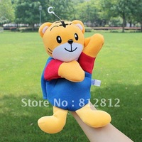 Large size finger puppet 24 pieces / lot the cartoon tiger hand puppet toy cartoon model prop plush toys