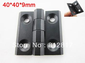 8mm Mount Hole Metal Closet Cabinet Door Butt Hinge Black