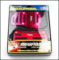 Car Auto Vehicle Pedal Aluminium Alloy Non-slip Foot Brake Cover 2pcs/lot 3 Color Car Black Pad Free Shipping