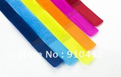 10 differently color---100pcs Cable Ties,nylon strap Power Wire Management,Marker Straps Velcro,Retail computer Free Shipping(China (Mainland))