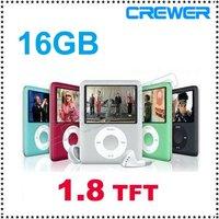 1.8 inch Mp4 Player 16GB MP4 Player Radio FM games+Free Ship