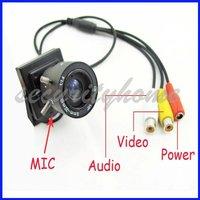 Mini Sony Color CCD 420TVL 9-22mm Munual Lens CCTV Camera Audio Output