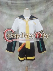 Cheap custom-made Vocaloid len kagamine cosplay Halloween Cosplay Costume(China (Mainland))