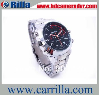 Free Shipping 1920*1080P HD Waterproof  Camera Watch30 fps HD pc webcam function(HDR-10B)