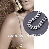 New Fashion Double row rhinestones straps Bra chain Lingerie straps Invisible straps