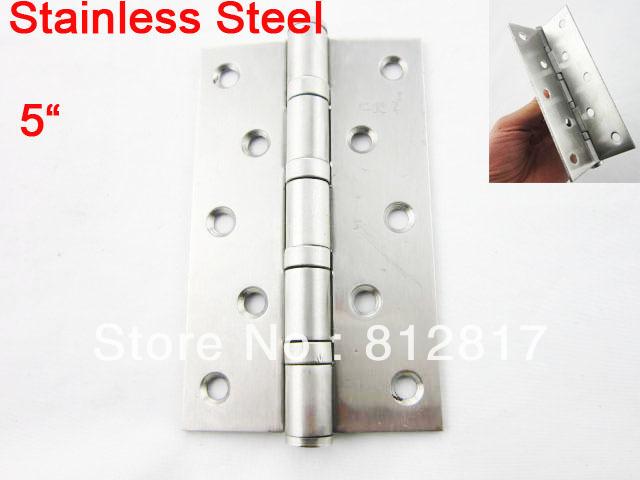 "Door Window Screw Installing Silver Tone 5"" Butt Hinge 2 Pcs(China (Mainland))"