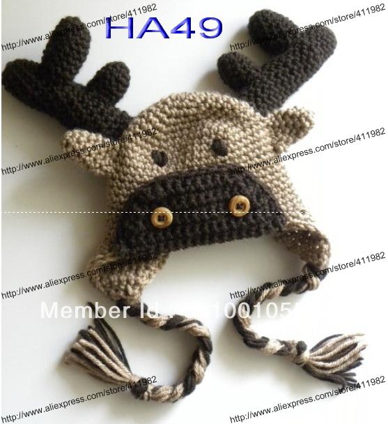 Reindeer Hat Knitting Pattern Free : Popular Reindeer Hat Pattern Aliexpress
