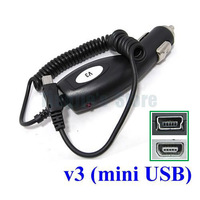 50pcs Plug in Car Charger For Mobile Phone:Motorola V3 V3i / GPS:Garmin Nuvi 300 TomTom XL 325 Go Device with Mini-USB Connector