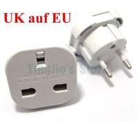 10/Lot UK 3-Pin to Euro 2-Pin Mains Adapter / Travel Plug