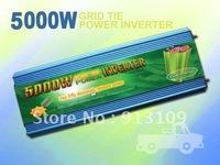 5000W Grid Tie Inverter 28V-52V DC Input,95V-130V AC Output,60Hz,Charge For 24V DC Solar Panel&Wind Turbine,DC to AC Converter