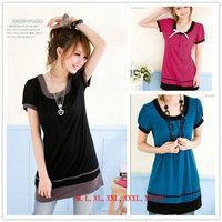 Hot Sell Brand New,Korean/Japan women's fashion large size summer t shirt top clothes women t-shirts/Black,Red,Blue,M~XXXL,4XL