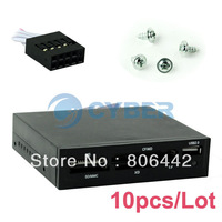 """Wholesale 10Pcs/Lot USB 2.0 3.5"""" All in 1 Internal Flash Memory Card Reader with USB Port 014"""